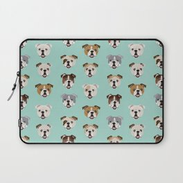 English Bulldog pattern print dog breed pet portrait gifts for dog owner bulldog Laptop Sleeve