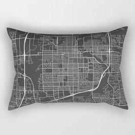 Sioux Falls Map, USA - Gray Rectangular Pillow