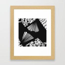 wavy circle pattern design Framed Art Print