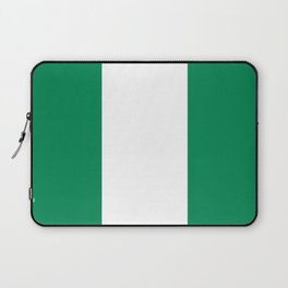 Nigerian Flag - Authentic High Quality HD Image Laptop Sleeve