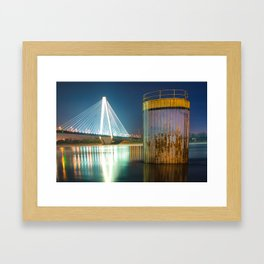 Saint Louis Stan Musial Bridge Mississippi Riverscape Framed Art Print