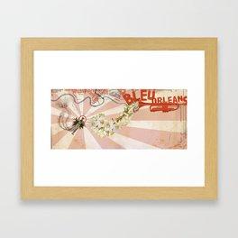 Bleu Orleans Framed Art Print