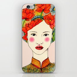 lotus girl iPhone Skin
