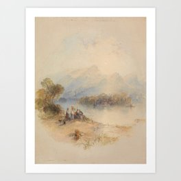 Thomas Creswick - The Summer Bower, Derwent Water Art Print