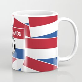 Netherlands Flag Football Coffee Mug