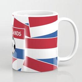 Netherlands Flag Football Coffee Mug