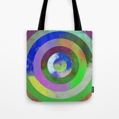 Textured Rings - Abstract, geometric, Concentric Circles Design Tote Bag
