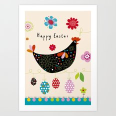 Happy Easter2 Art Print