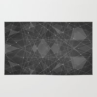constellations Area & Throw Rugs featuring Constellations 2 by Dood_L