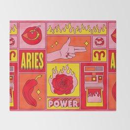 Aries Throw Blanket