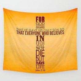 John 3:16 Wall Tapestry