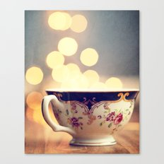 Blue and Gold Steaming Cup Canvas Print