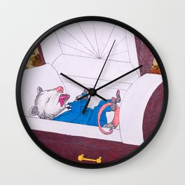 Possum Funeral Wall Clock