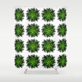 The Majesty Palm Light Flower (Pattern) Shower Curtain