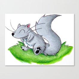 Cheerful Little Squirrel Canvas Print
