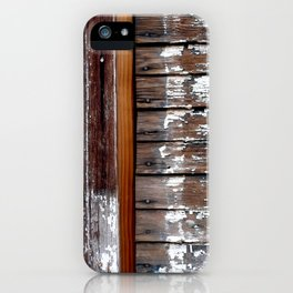 White Paint and Wood iPhone Case