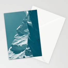 Alaskan Mts. I, Bathed in Teal Stationery Cards
