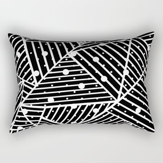 Abstraction Spots Close Up Black Rectangular Pillow