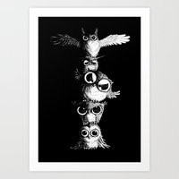 totem Art Prints featuring Totem by Det Tidkun