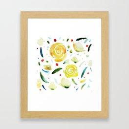 dance flowers Framed Art Print