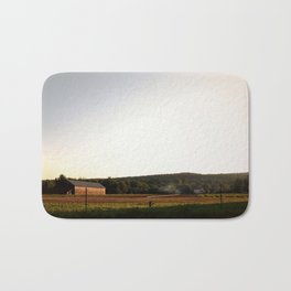 Farm in Sunlight Bath Mat