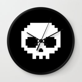 Pixel skull Wall Clock