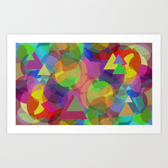 Bubble Merge Art Print