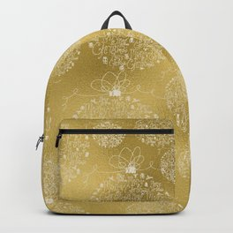 Merry christmas- christmas balls on gold pattern Backpack