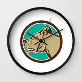 Mastiff Dog Mongrel Head Circle Cartoon Wall Clock