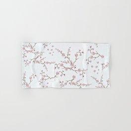 SAKURA LOVE - GRUNGE WHITE Hand & Bath Towel