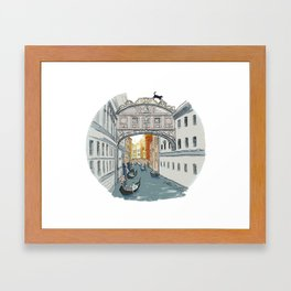 Bridge of Sighs Framed Art Print