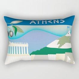 Athens, Greece - Skyline Illustration by Loose Petals Rectangular Pillow