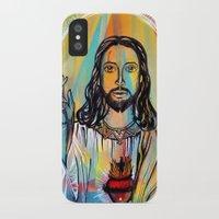 jesus iPhone & iPod Cases featuring Jesus by Lina Caro Design
