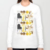 the mortal instruments Long Sleeve T-shirts featuring Jazz instruments by Ana Linea