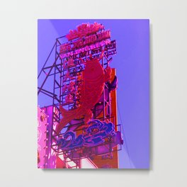 Fluorescent pink fish Metal Print
