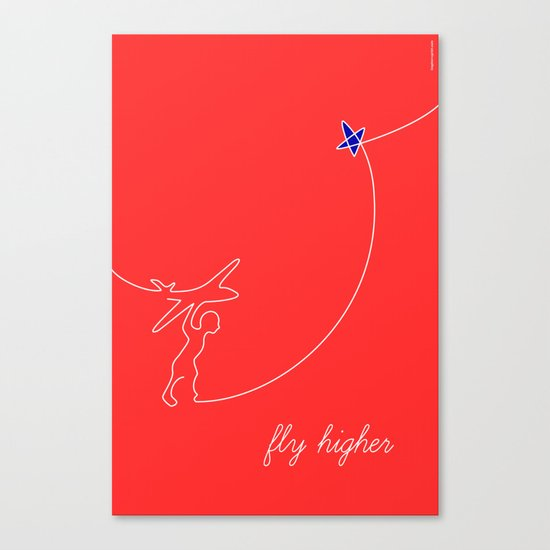 Fly higher Canvas Print