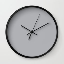 Gray Day - Solid Color Collection Wall Clock