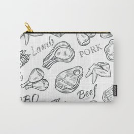 Funny Meat Food Art Carry-All Pouch