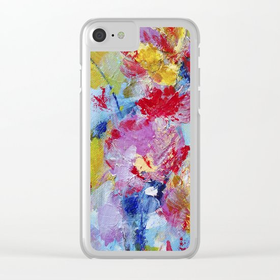 Abstract floral painting 5 Clear iPhone Case