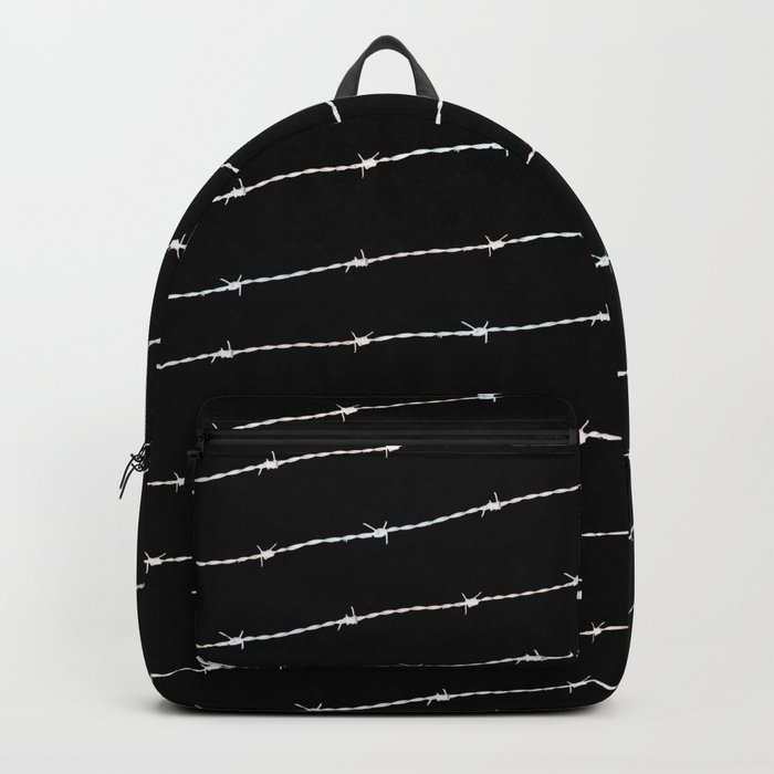 Cool black and white barbed wire pattern Backpack by pldesign  d60356c65f77b