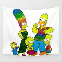 simpsons Wall Tapestries featuring The Simpsons by Luna Portnoi