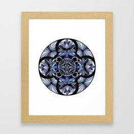 Ajna third eye chakra mandala. Framed Art Print