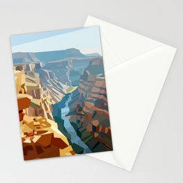 Geometric Grand Canyon National Park, USA Stationery Cards