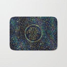 Virgo Zodiac Gold Abalone on Constellation Bath Mat