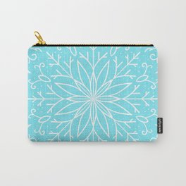Single Snowflake - Mint Blue Carry-All Pouch