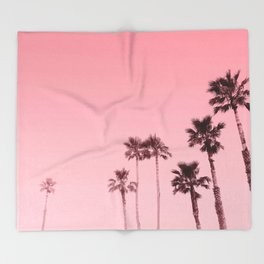Tranquillity - flamingo pink Throw Blanket