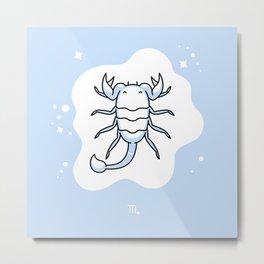 Zodiac: Scorpio Metal Print
