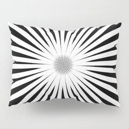 Starburst Black and White Pattern Pillow Sham