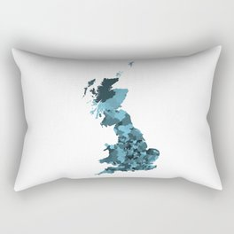 Great Britain Map Print Abstract in Camouflage Marine - A great talking piece for the home! Rectangular Pillow