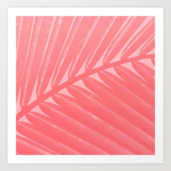 Hot Pink Palm Art Print